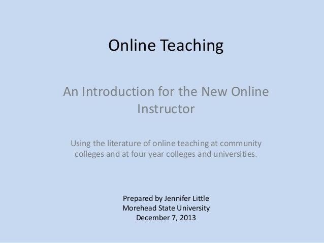 Online Teaching - An Introduction