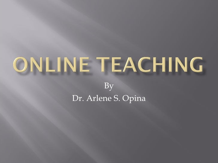 By Dr. Arlene S. Opina