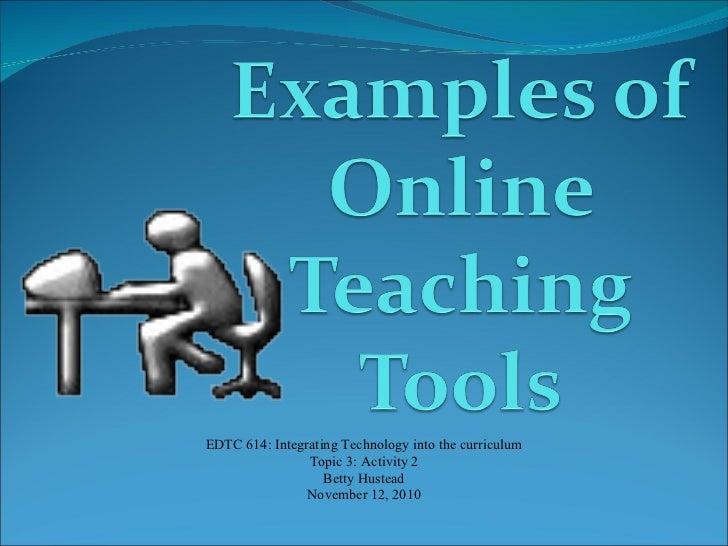 Online teaching tools