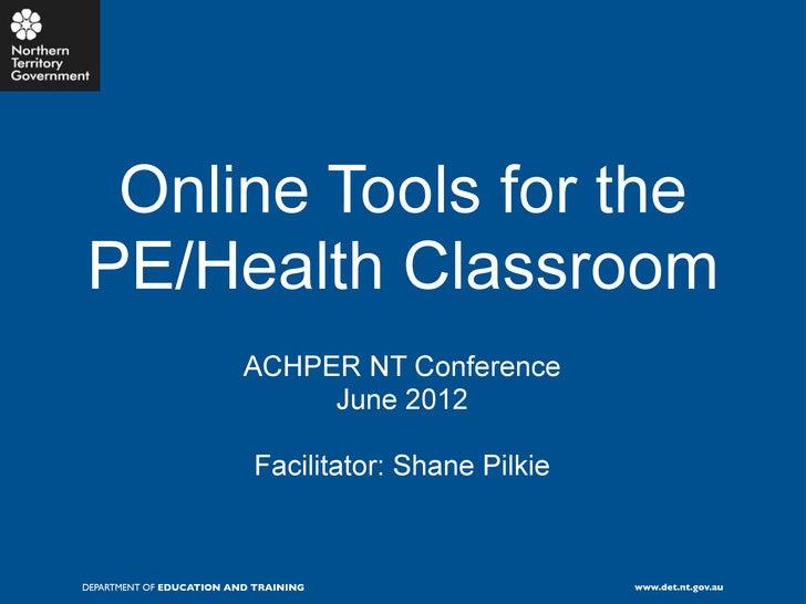 Online tools for PE & Health Teachers