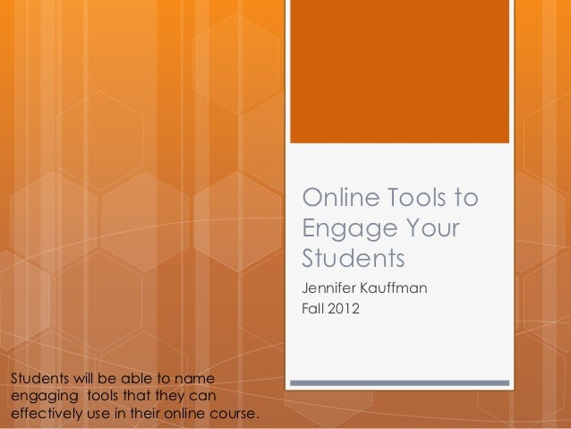 Online tools to engage your students live webinar