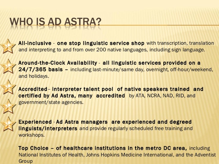 All-inclusive -  one stop linguistic service shop  with transcription, translation and interpreting to and from over 200...