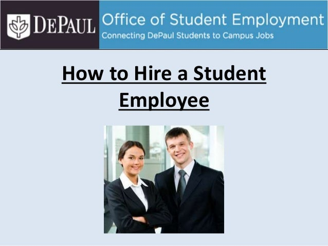 How to Hire a Student Employee