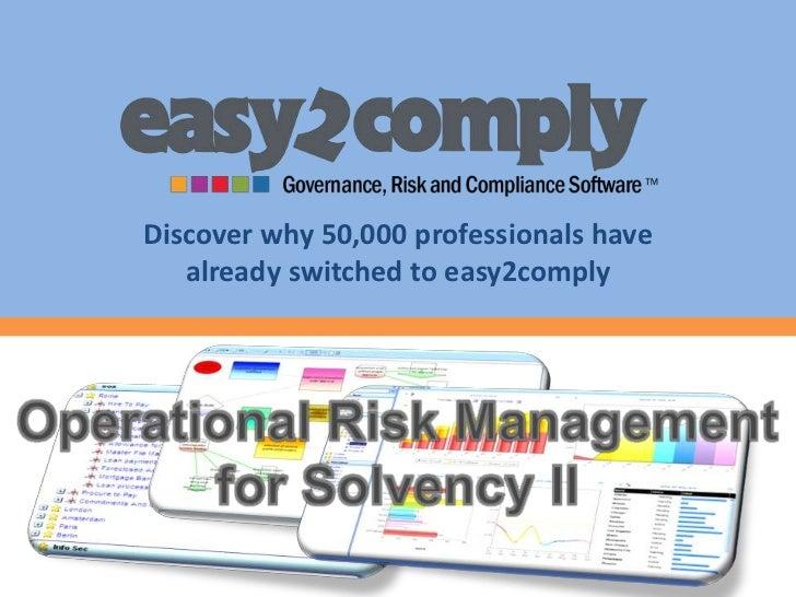 Online Training Solvency II