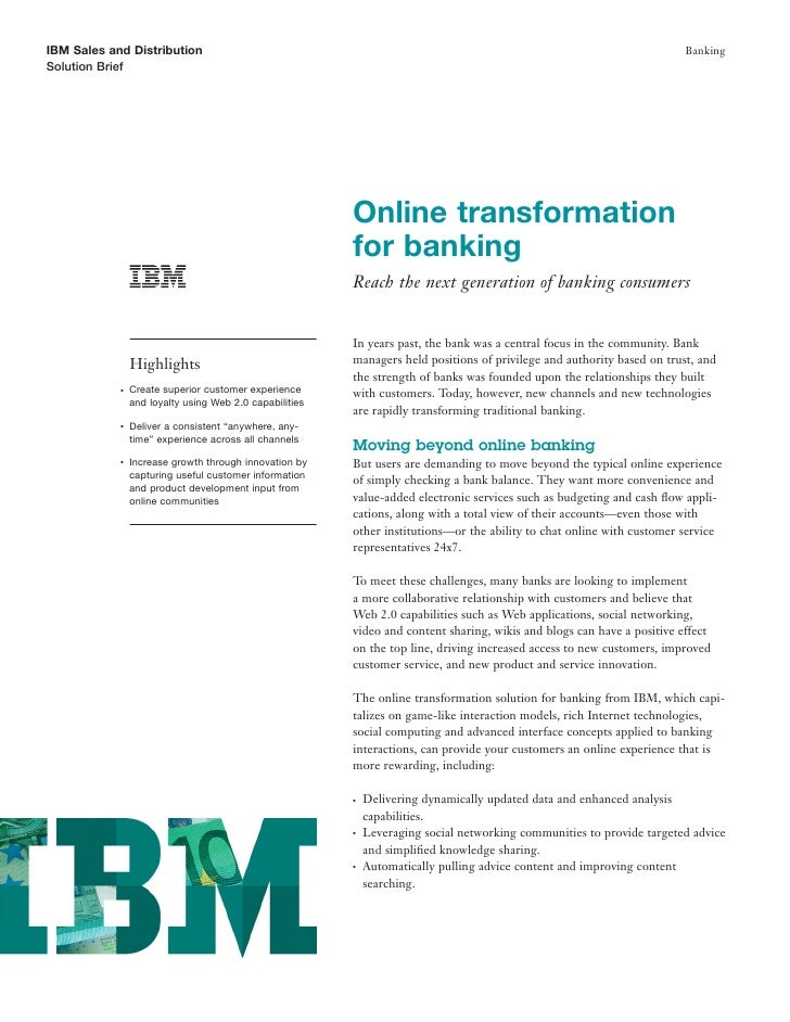 Online Banking Services: Enabling Banks to Advance their Online Capabilities