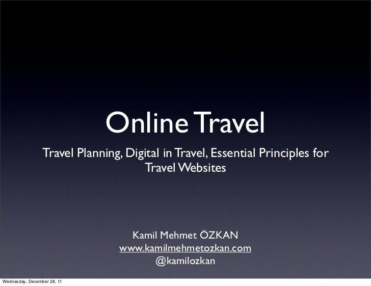 Online Travel                 Travel Planning, Digital in Travel, Essential Principles for                                ...