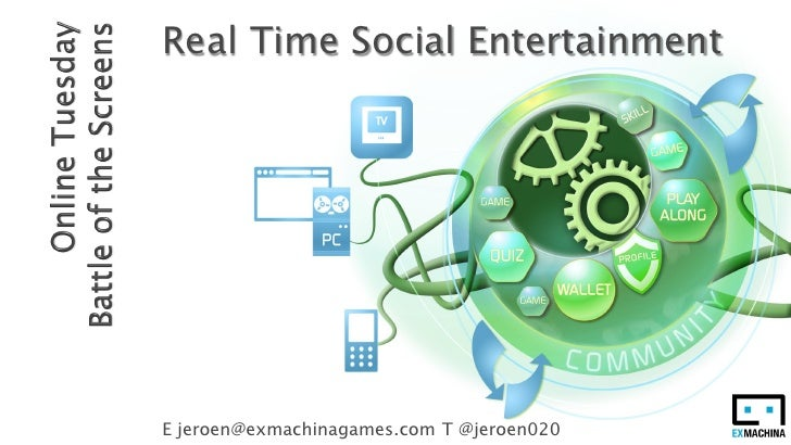 Real Time Social EntertainmentE jeroen@exmachinagames.com T @jeroen020