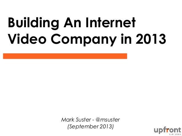Online video market sept 2013