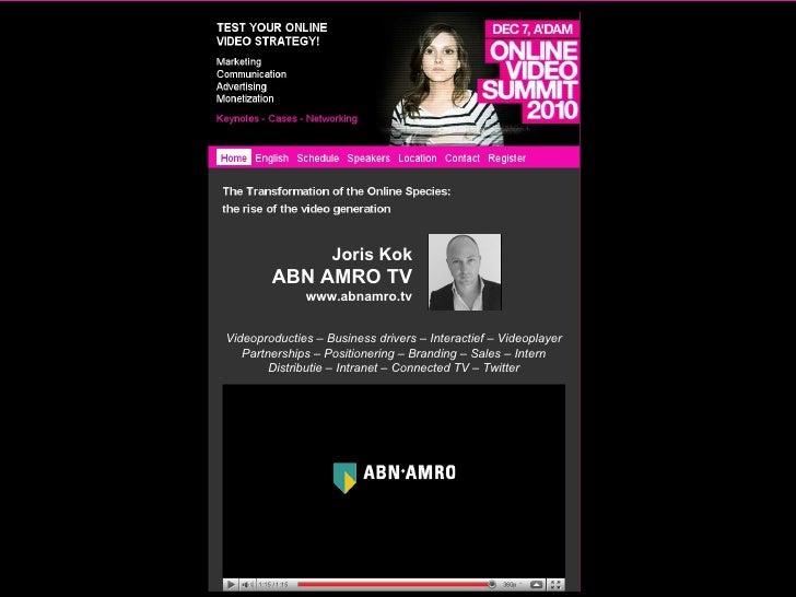 ABN AMRO TV @ Online video summit 2010