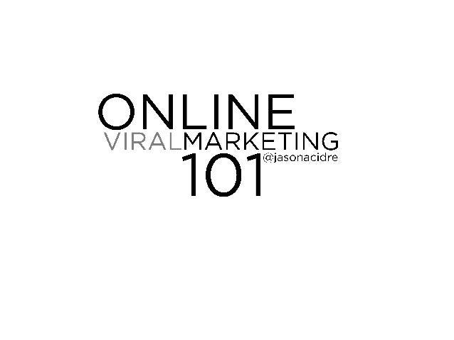 Online viral marketing 101