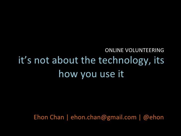 International Volunteering Day Symposium 2010: Online Volunteering
