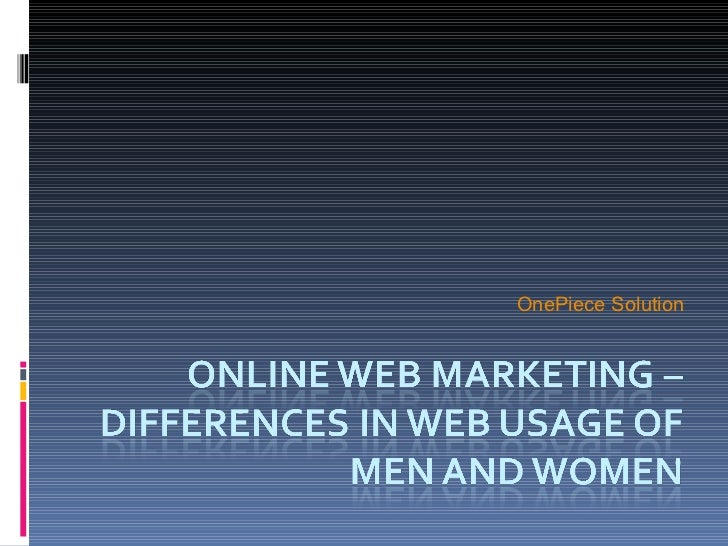 Online web marketing – differences in web usage
