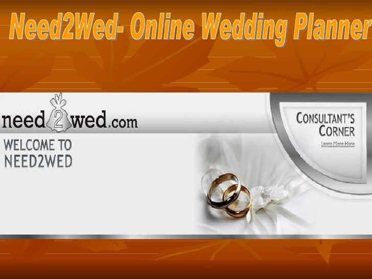 Online wedding planner at need2wed