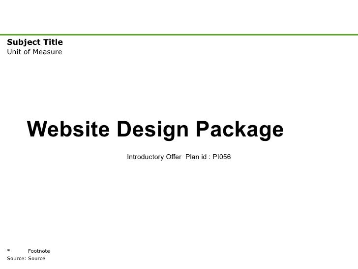 Website Design Package Introductory Offer  Plan id : PI056
