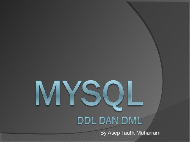 Membuat Database Menggunakan MySql