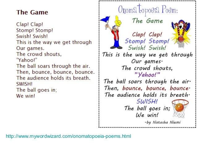 Onomatopoeia Poems For Kids Onomatopoeia Poems Html