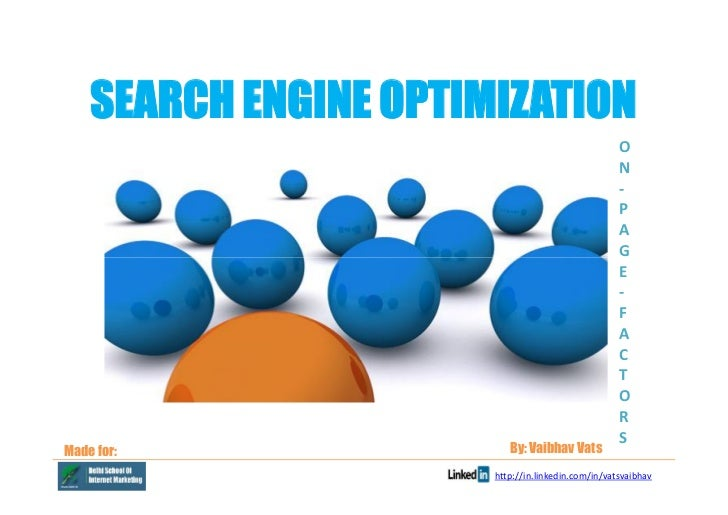 SEARCH ENGINE OPTIMIZATION                                                    O                                           ...