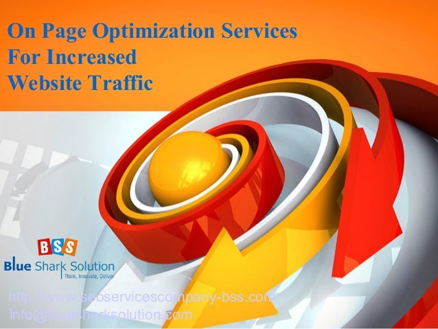 On page optimization services for increased website traffic