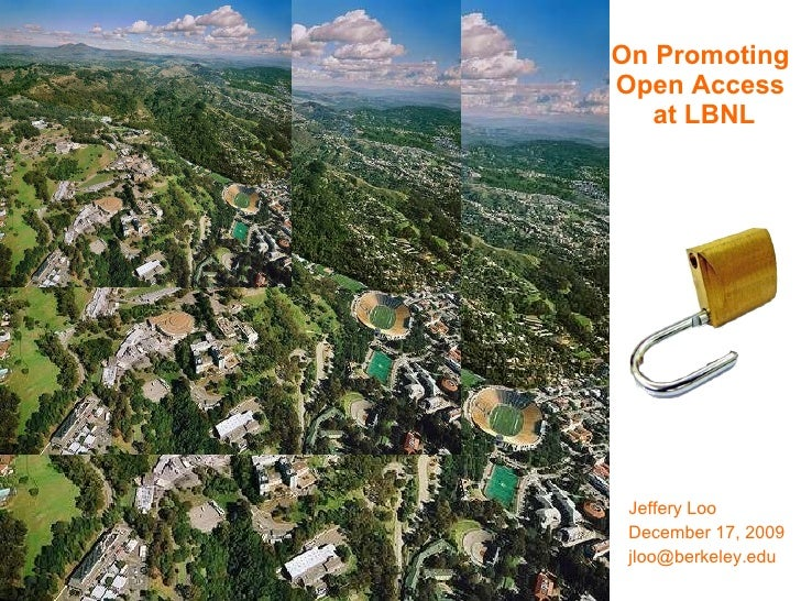 On Promoting Open Access at LBNL