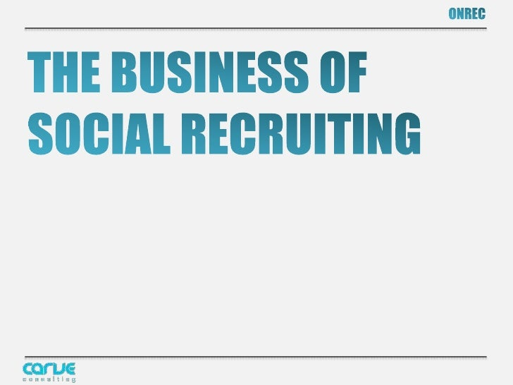 What passes                                 OPEN for for social           The 4 P's               Socialrecruiting?       ...
