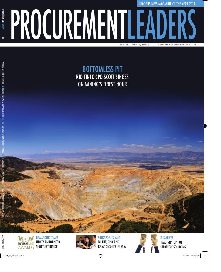 IPAC BUSINESS MAGAZINE OF THE YEAR 2010PROCUREMENTLEADERS31                                                               ...