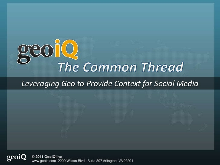 Leveraging Geo to Provide Context for Social Media