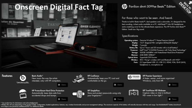Onscreen Digital Fact Tag and App Concept