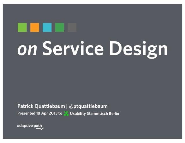 on Service Design
