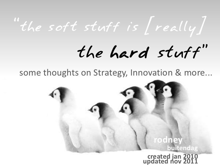 On strategy innovation & more