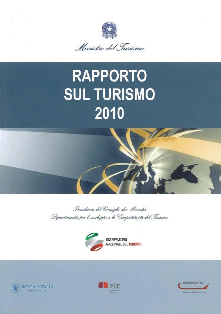 Rapporto ONT sul turismo
