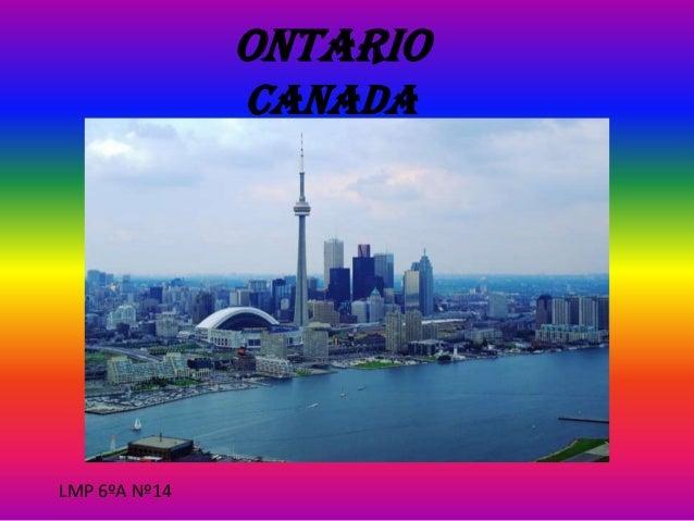 ONTARIO CANADA  LMP 6ºA Nº14