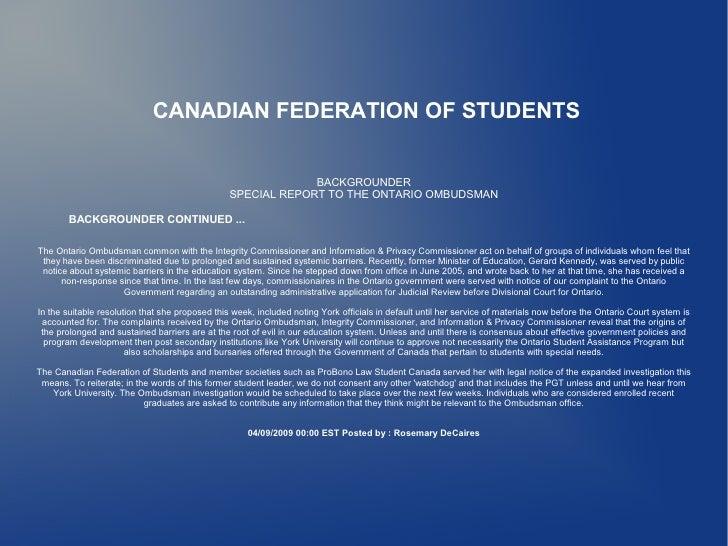 Ontario Ombudsman 2 Of 2
