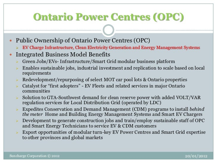 Ownership of Ontario Power