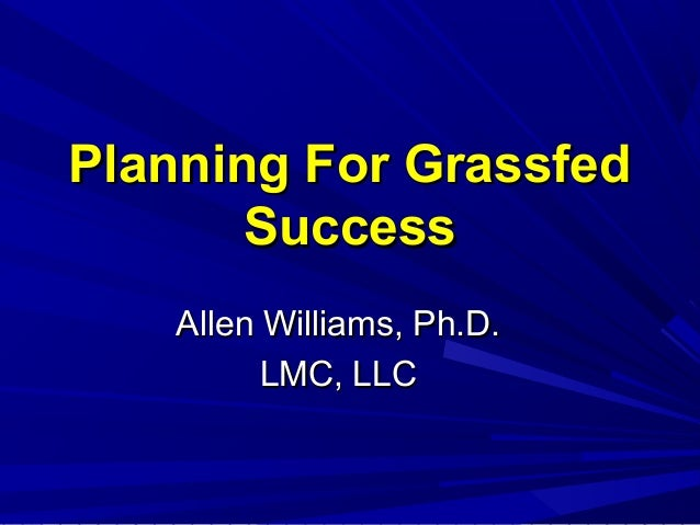 Planning for Grassfed Success