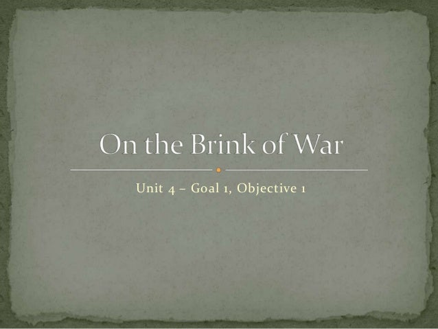 On The Brink of War Fall 2013