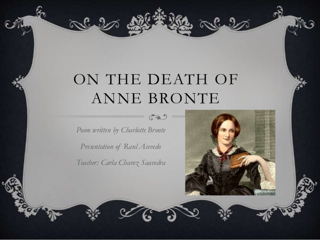 Anne Bronte death poem