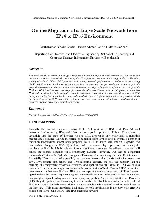 International Journal of Computer Networks & Communications (IJCNC) Vol.6, No.2, March 2014 DOI : 10.5121/ijcnc.2014.6210 ...