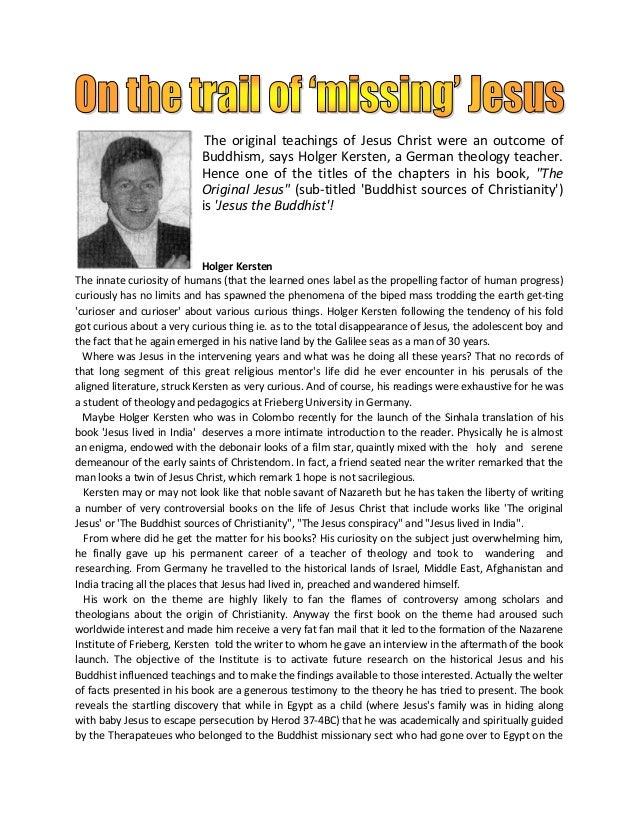 On the trail of missing Jesus-Holger Kersten
