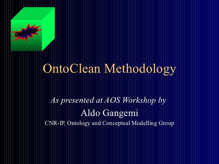 Onto clean methodology