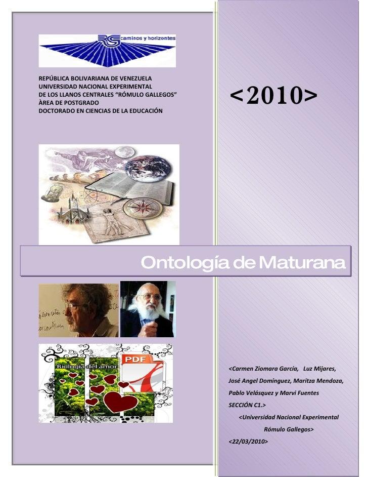 REPÚBLICA BOLIVARIANA DE VENEZUELA                                               <2010> UNIVERSIDAD NACIONAL EXPERIMENTAL ...