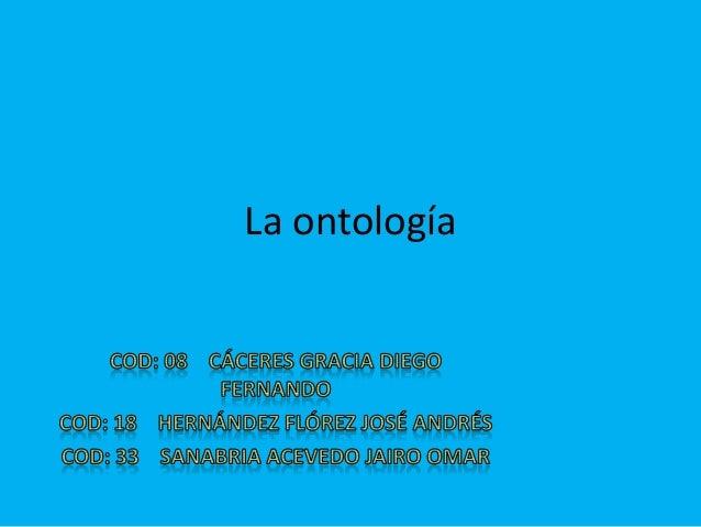 La ontología