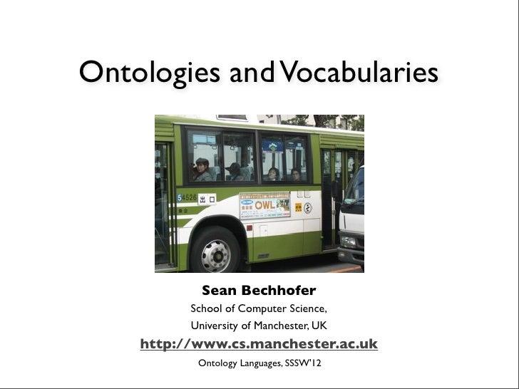 Ontologies and Vocabularies