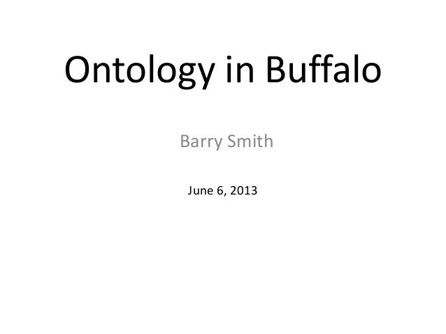Ontology in-buffalo-2013