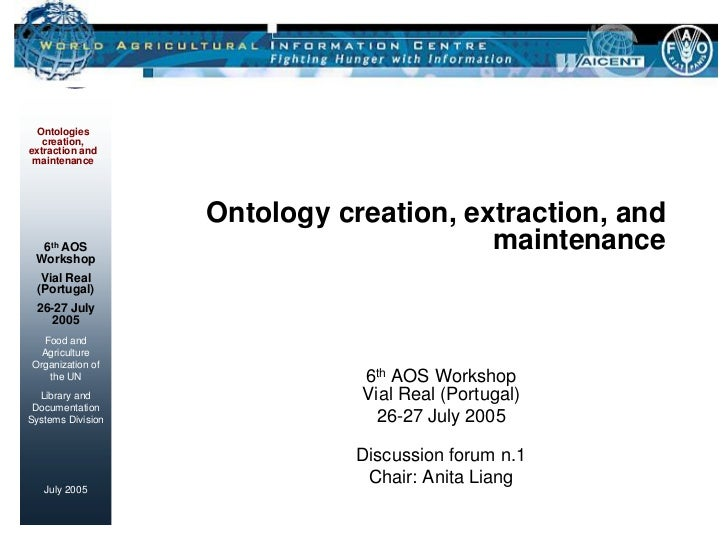 Ontology creation, extraction, and maintenance