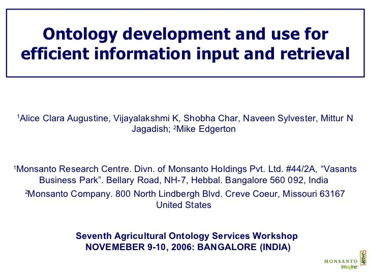 Ontology development and use for efficient information input and retrieval