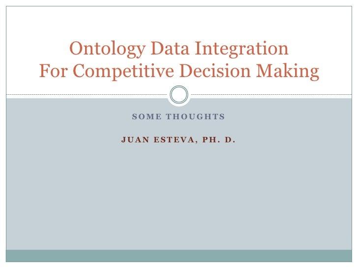Some Thoughts<br />Juan Esteva, Ph. D.<br />.<br />751 Malena Dr., Ann Arbor, MI 48103<br />Tel:  734-786-0233 <br />Cell ...