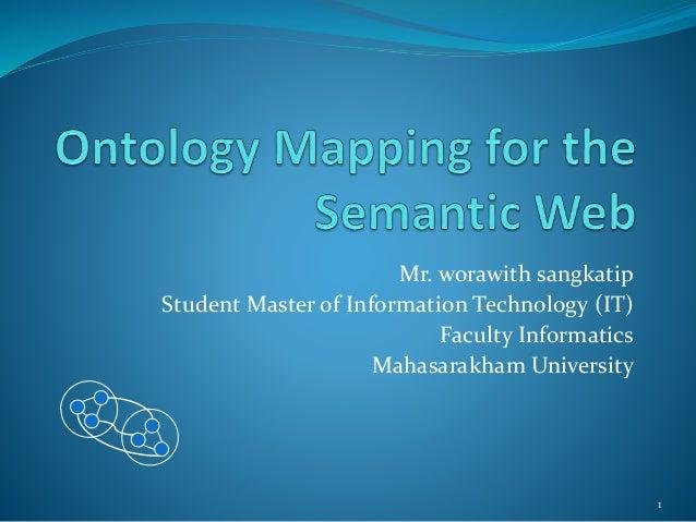 Mr. worawith sangkatip Student Master of Information Technology (IT) Faculty Informatics Mahasarakham University 1