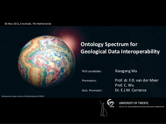 Ontology spectrum for geological data interoperability (PhD defense nov 2011)