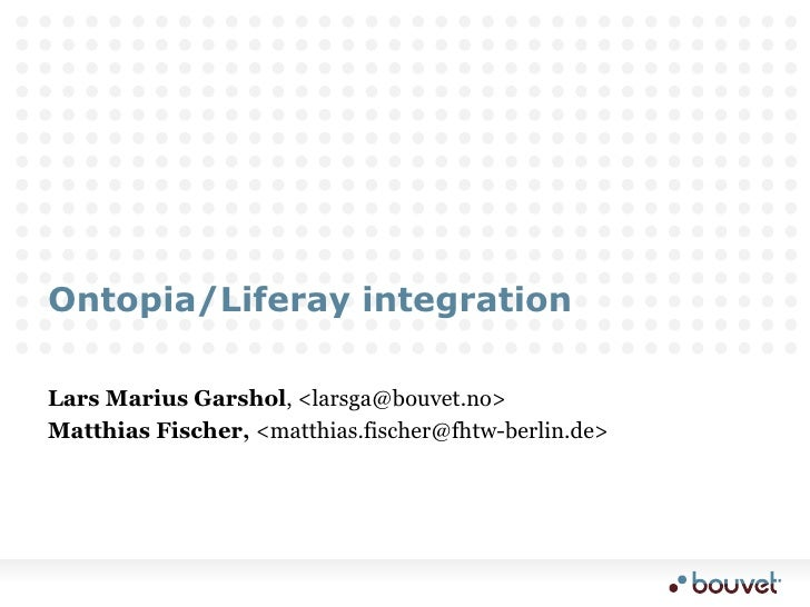 Ontopia Liferay integration demo