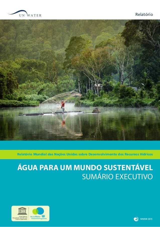SUMÁRIO EXECUTIVO Relatório ÁGUA PARA UM MUNDO SUSTENTÁVEL Relatório Mundial das Nações Unidas sobre Desenvolvimento dos R...